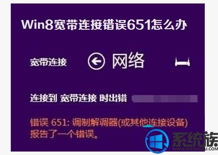 Win8系统网络连接错误651的原因分析及解决方法