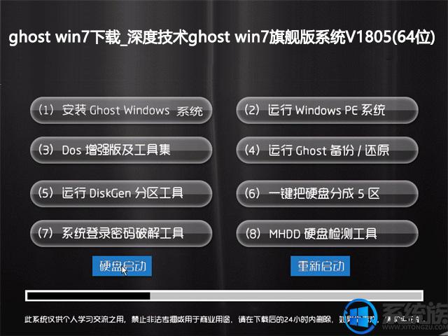 ghost win7下载_深度技术ghost win7旗舰版系统V1805(64位)