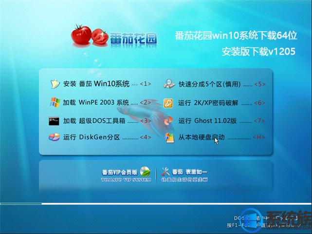 番茄花园win10系统下载64位安装版下载v1205