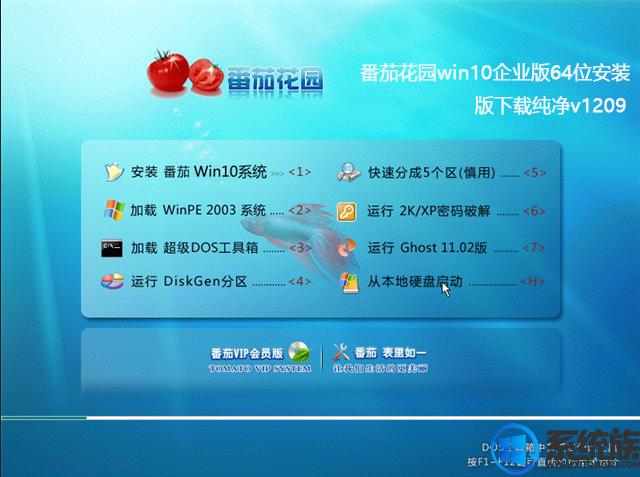番茄花园win10企业版64位安装版下载纯净v1209