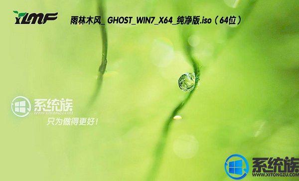 雨林木风GHOST WIN7 X64纯净版下载 V2017.07(64位)
