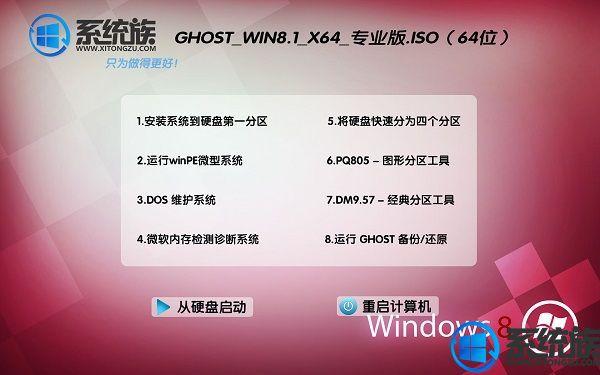 系统族GHOST WIN8.1 X64专业版系统下载 V2017.07(64位)