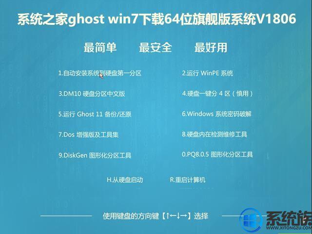系统之家ghost win7下载64位旗舰版系统V1806