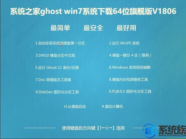 系统之家ghost win7系统下载64位旗舰版V1806