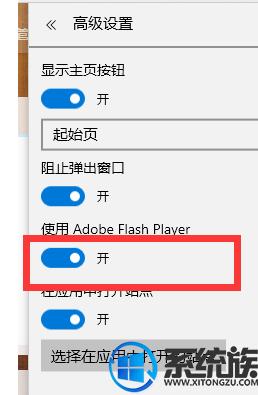 win10 Edge浏览器设置允许运行flash