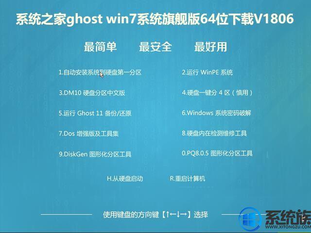 系统之家ghost win7系统旗舰版64位下载V1806