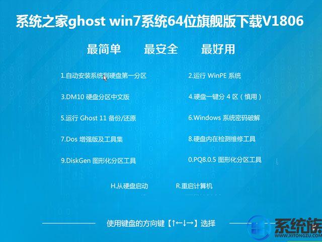系统之家ghost win7系统64位旗舰版下载V1806