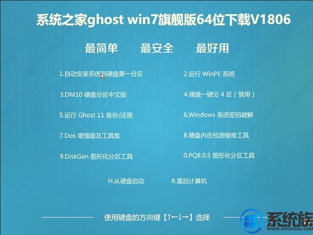 系统之家ghost win7旗舰版64位下载V1806