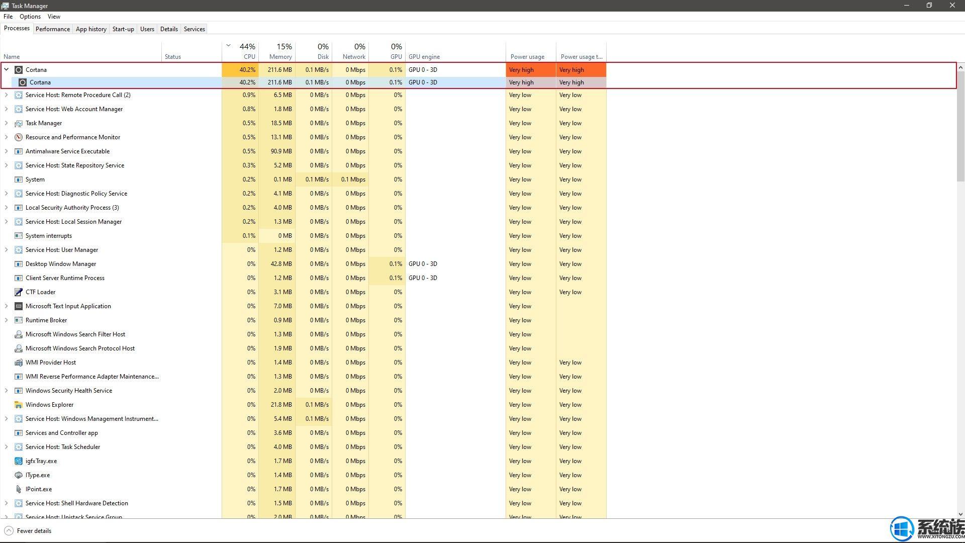 最新Windows10累积补丁使CPU占用率100%可通过注册表搞定