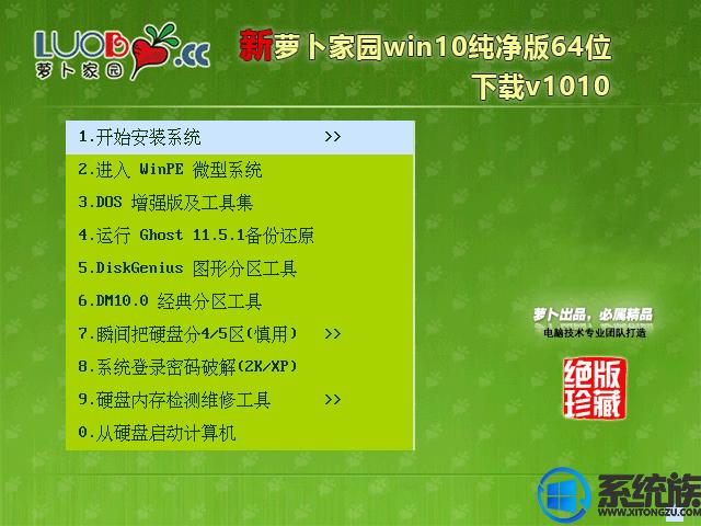萝卜家园win10纯净版64位下载v1010