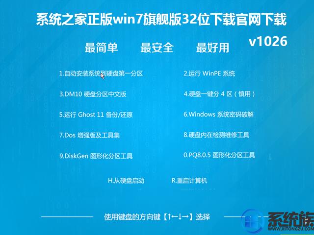 系统之家正版win7旗舰版32位下载官网下载v1026