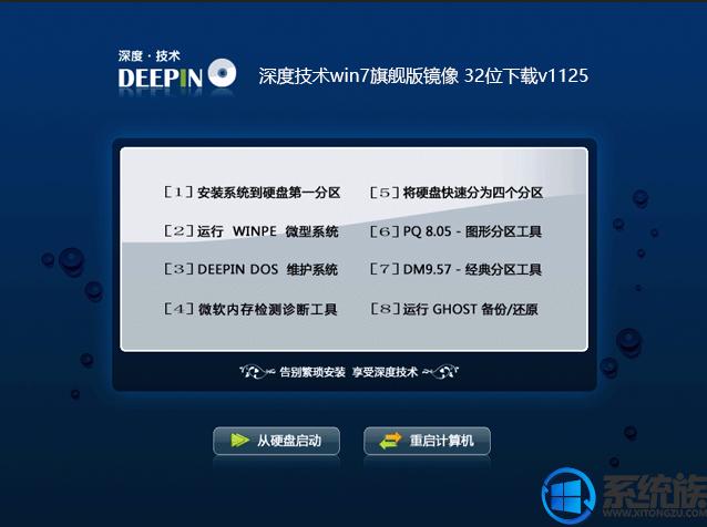 深度技术win7旗舰版镜像32位下载v1125