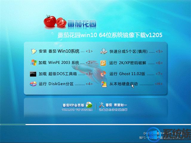 番茄花园win10 64位系统镜像下载v1205