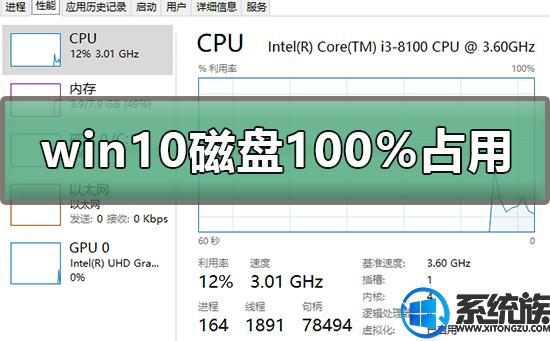 win10操作系统的磁盘占用率突破100%该怎么办